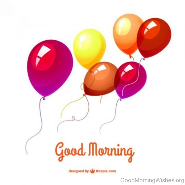 Good Morning Back Ground With Balloons
