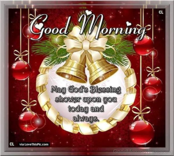 Good Morning Christmas Blessings