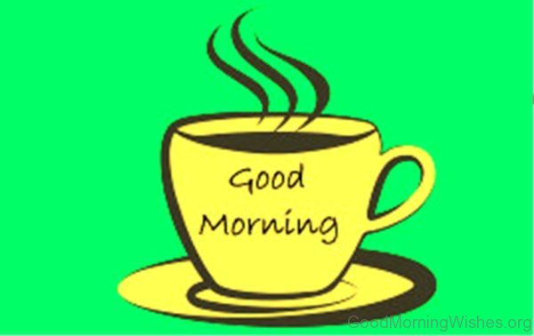 Good Morning Coffee Clip Art Image