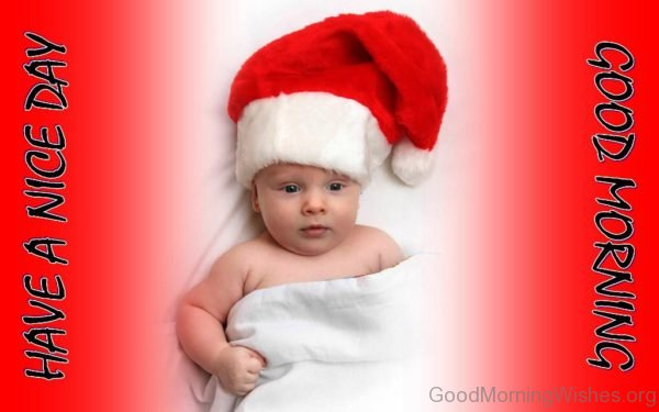 Good Morning Cute Christmas Baby Pic