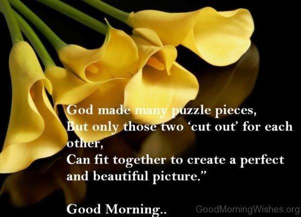 Good Morning Many Puzzle Pieces
