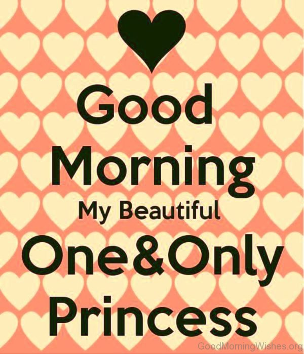 Good Morning My Beautiful One And Only Princess