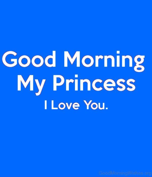 Good Morning My Princess I Love You