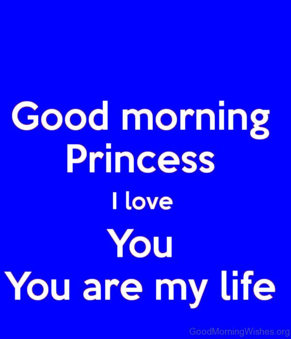 Good Morning Princess I Love You