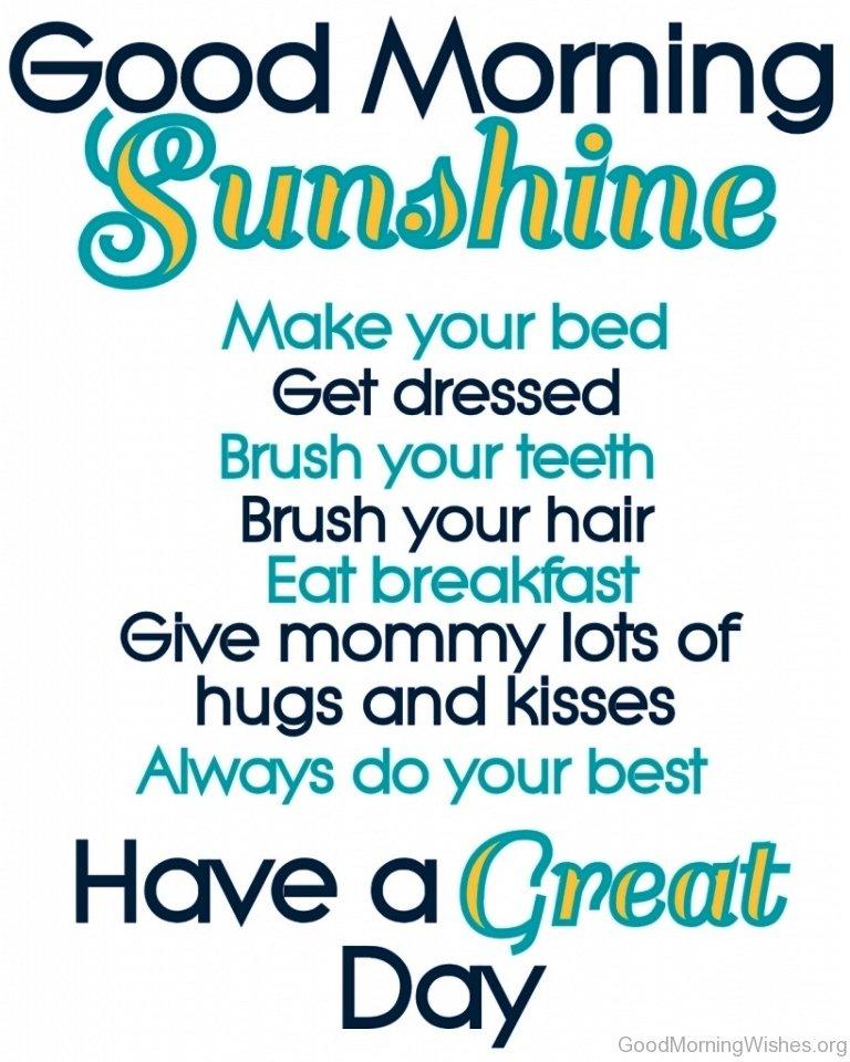 Good Morning Sunshine Wishes : Good morning my sunshine quotes