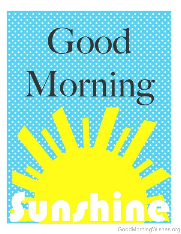 Good Morning Sunshine Clipart : Clip art good morning wishes
