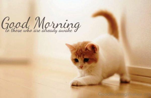Good Morning To Those Who Are Already Awake 1