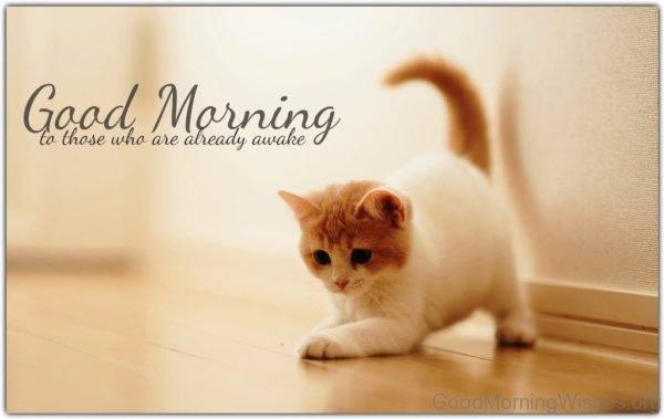 Good Morning To Those Who Are Already Awake