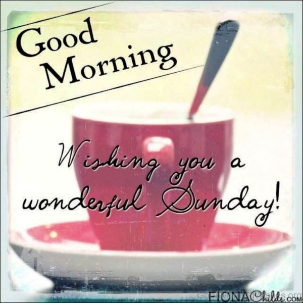Good Morning Wishing You A Wonderful Sunday 1