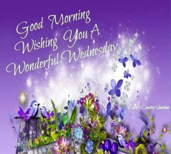 Good Morning Wishing You A Wonderful Wednesday