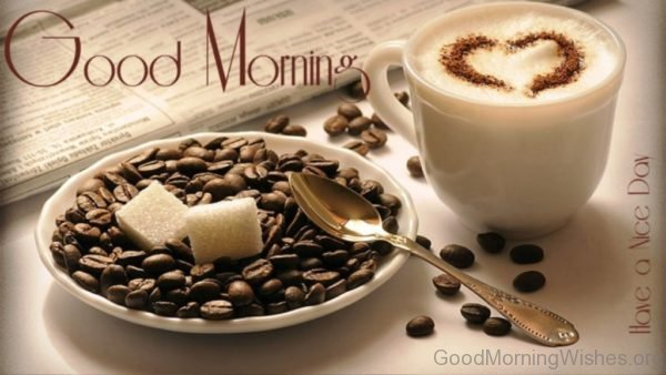 Good Morning With Coffee Cup