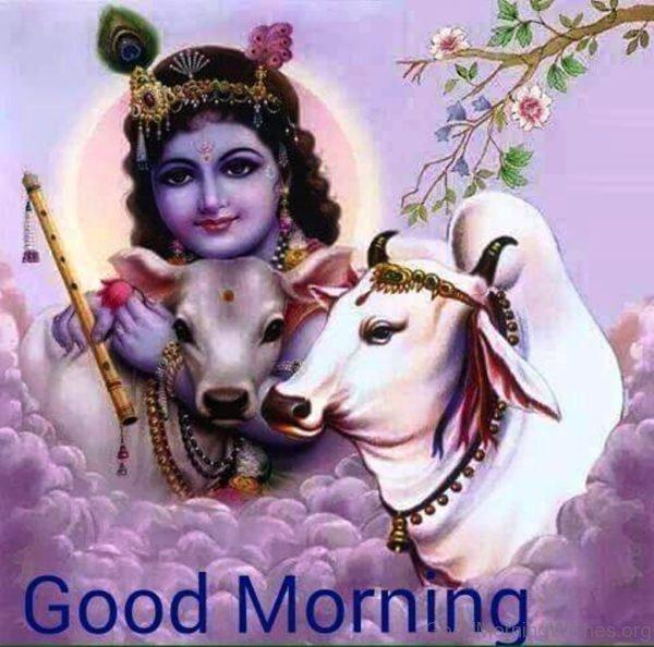 Good Morning With Lord Krishna