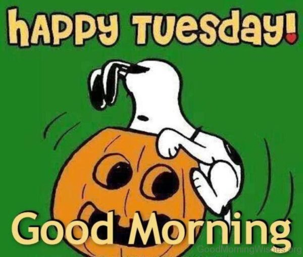 Happy Tuesday Good Morning Snoopy