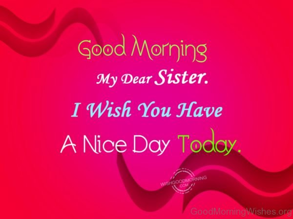 I Wish You Have A Nice Day Today