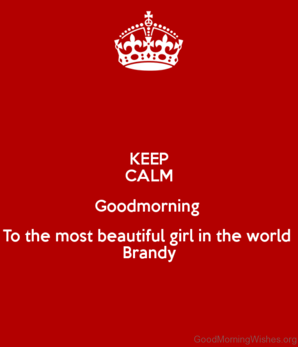 Keep Calm Good Morning