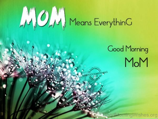 Mom Means Everything Good Morning Mom