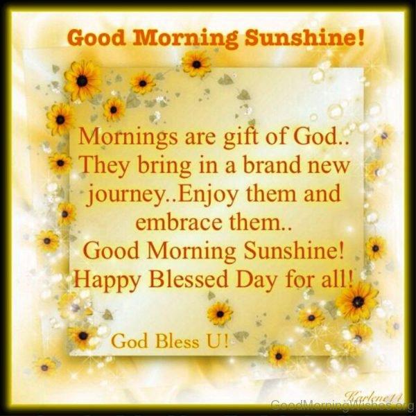 Good Morning Sunshine You Are My Sunshine : Good morning my sunshine quotes