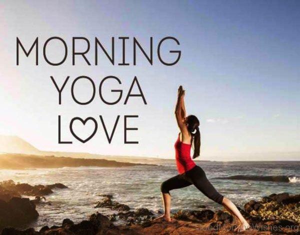 Morning Yoga Love Pic