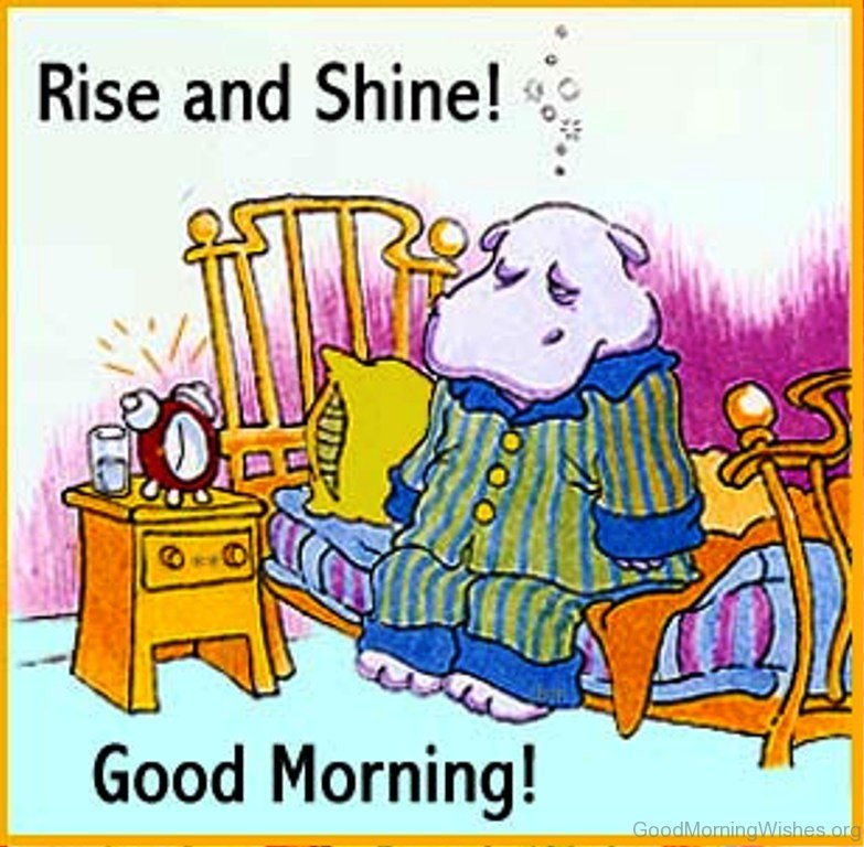 Good Morning Rise And Shine In German : Good morning postcards
