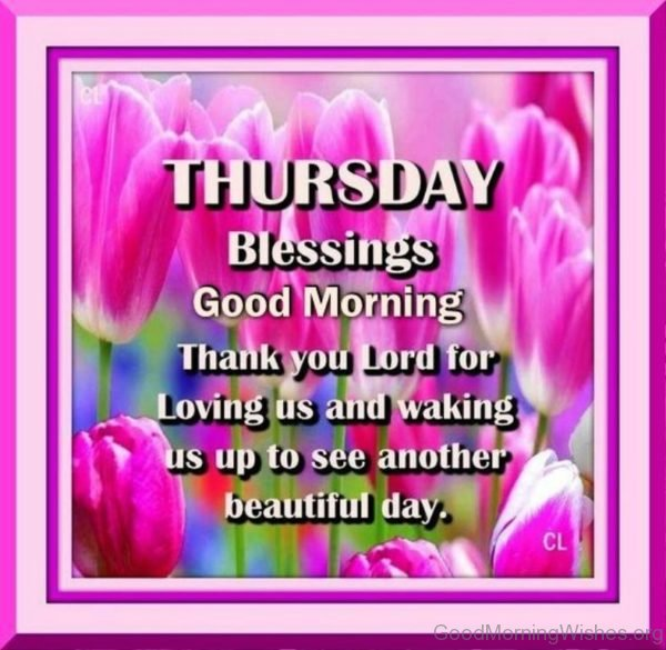Thursday Blessings Good Morning 1