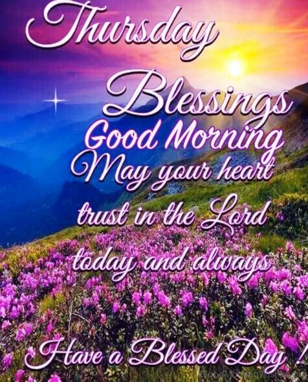 Thursday Blessings Good Morning