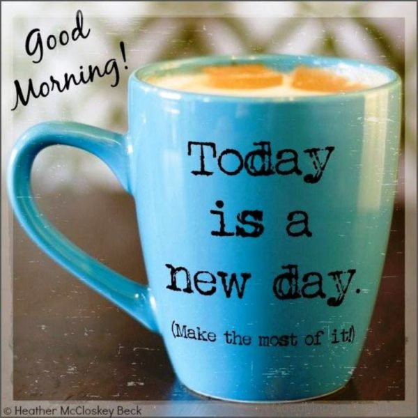 Today Is A New Day Make The Most Of It
