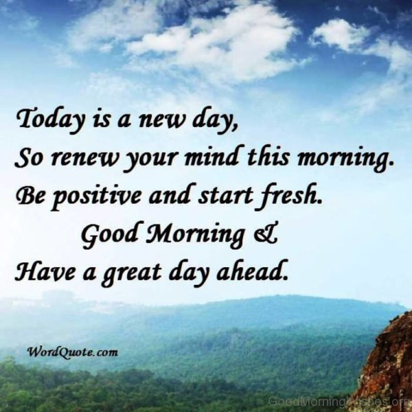 Today Is New Day