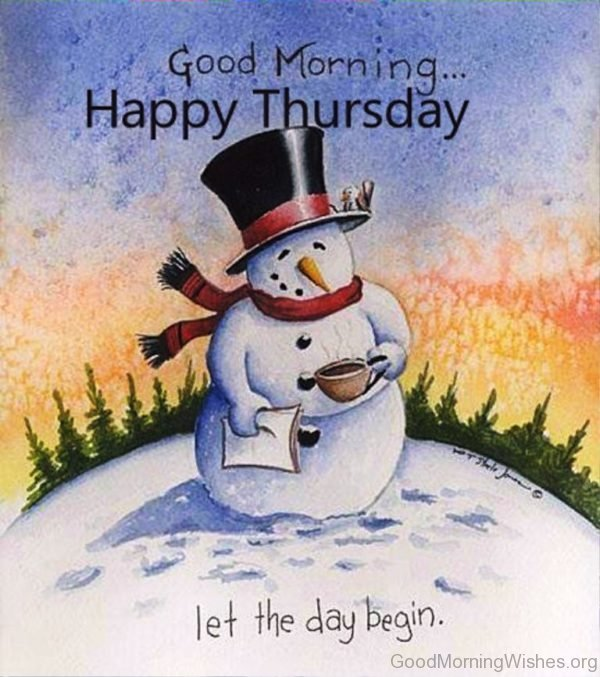 Winter Good Morning Happy Thursday