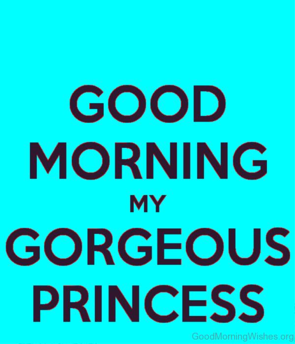 Wonderful Pic Of Good Morning Princess